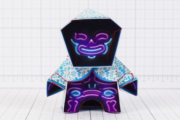 PTI- Neon Reaper Paper Toy Image - Front