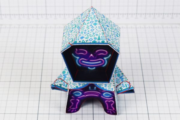 PTI- Neon Reaper Paper Toy Image - Top