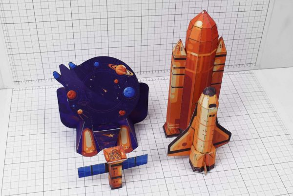 PTI - Space Shuttle paper Toy Craft Image - Parts
