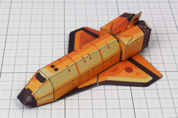 PTI - Space Shuttle paper Toy Craft Image - Shuttle