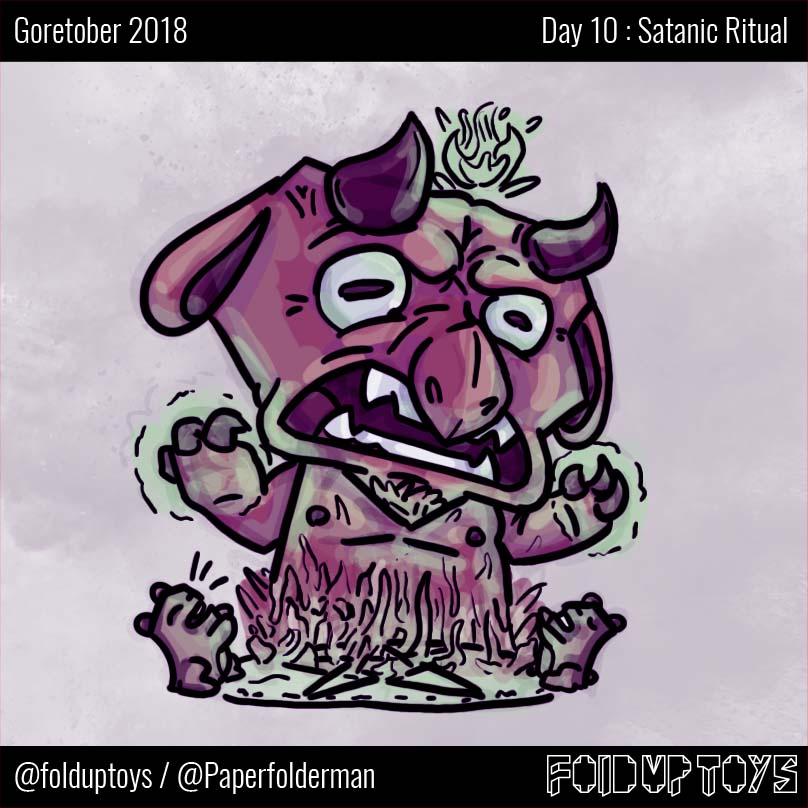 Alex Gwynne - Fold Up Toys - Day 10 Goretober Satanic Ritual