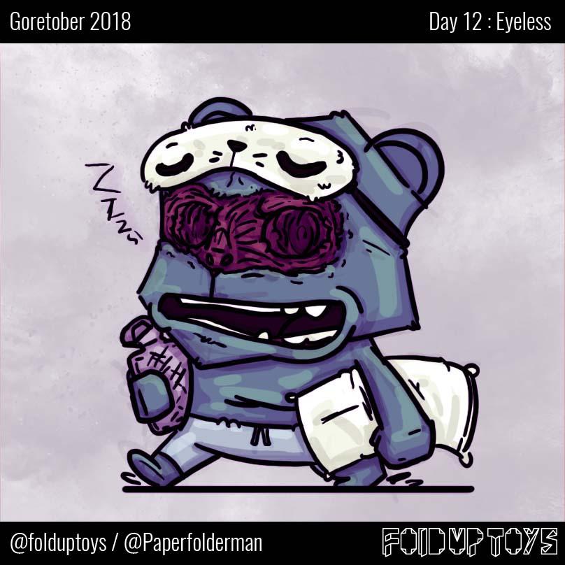 Alex Gwynne - Fold Up Toys - Day 12 Goretober Eyeless