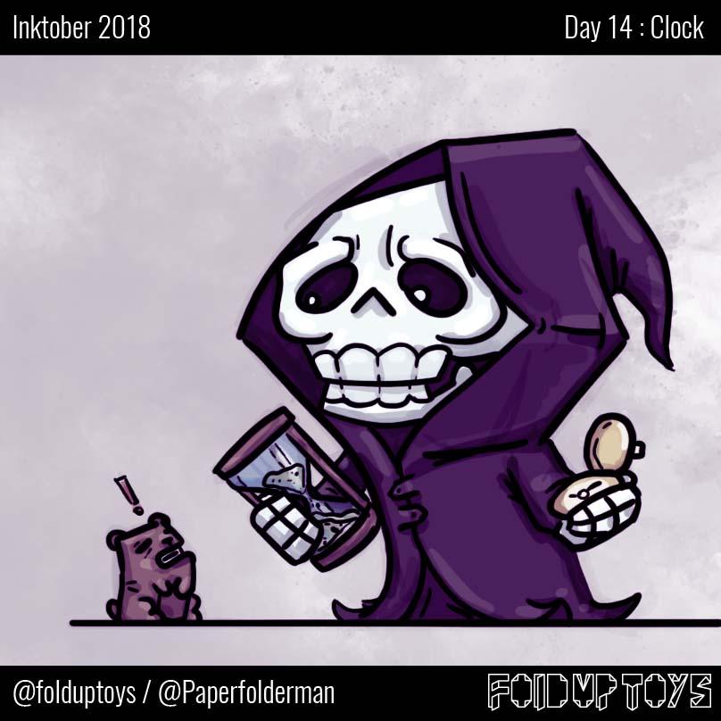 Alex Gwynne - Fold Up Toys - Day 14 Inktober Clock