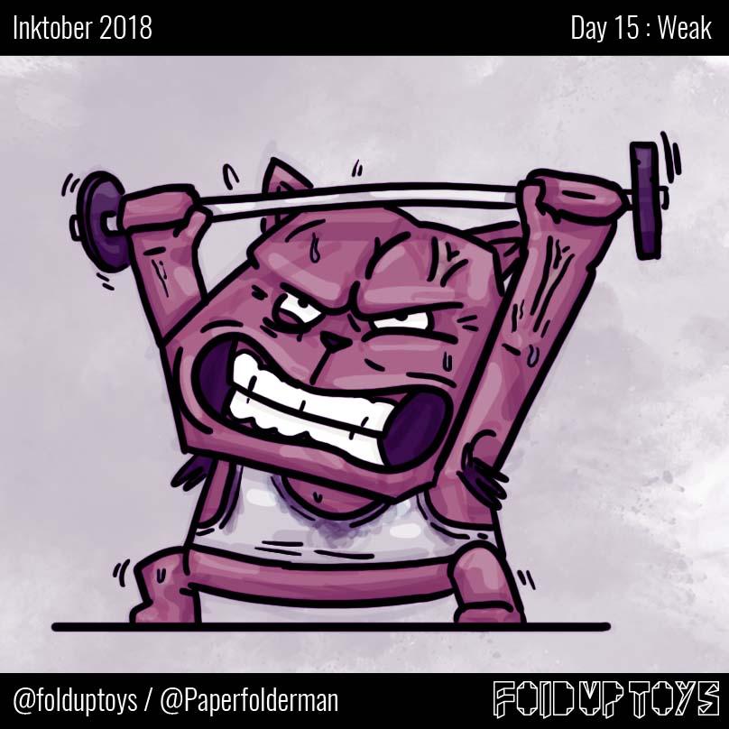 Alex Gwynne - Fold Up Toys - Day 15 Inktober Weak