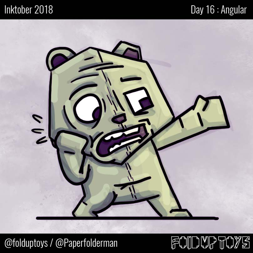 Alex Gwynne - Fold Up Toys - Day 16 Inktober Angular