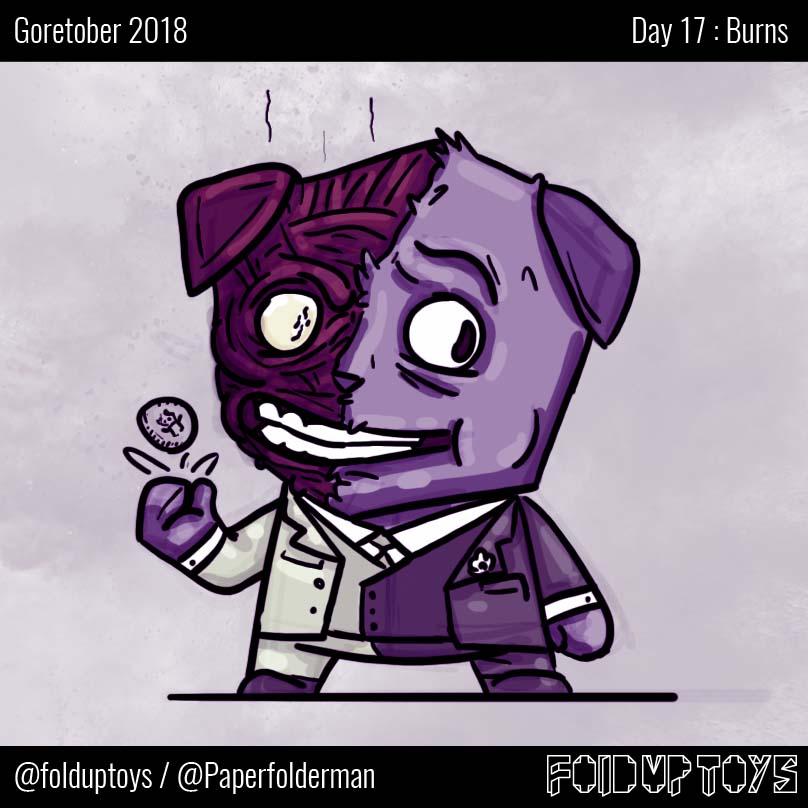 Alex Gwynne - Fold Up Toys - Day 17 Goretober Burns