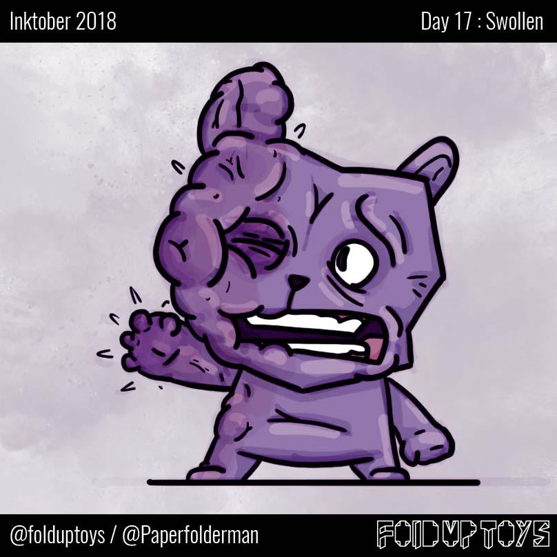 Alex Gwynne - Fold Up Toys - Day 17 Inktober Swollen