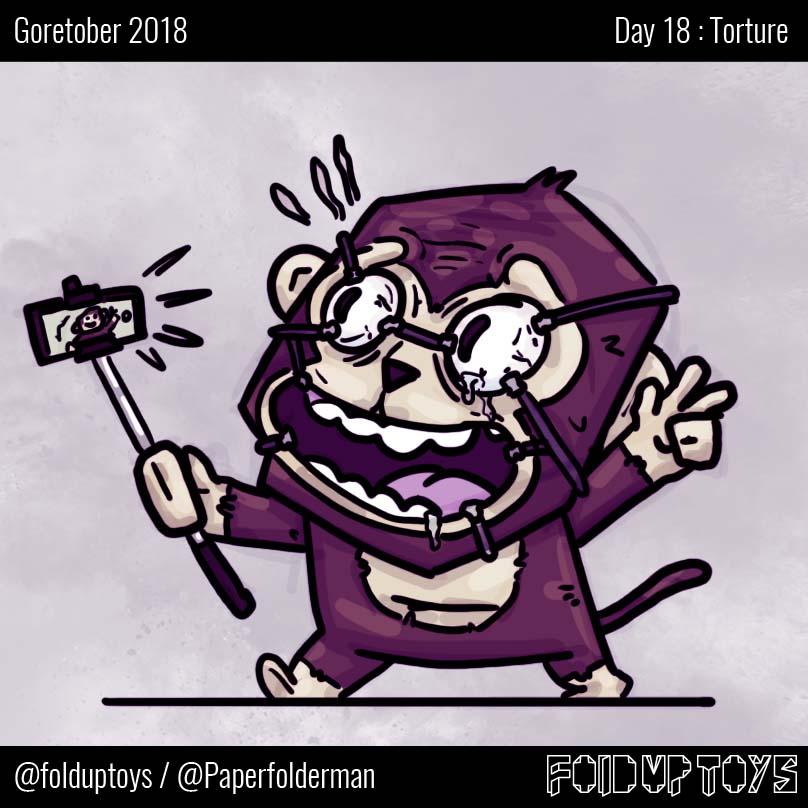 Alex Gwynne - Fold Up Toys - Day 18 Goretober Torture