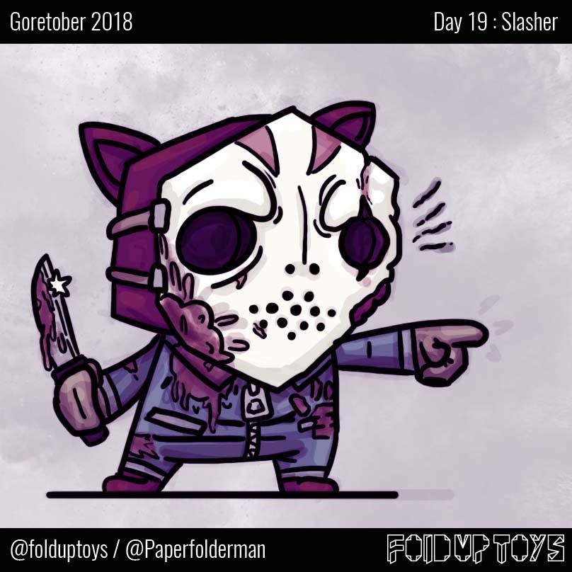 Alex Gwynne - Fold Up Toys - Day 19 Goretober Slasher