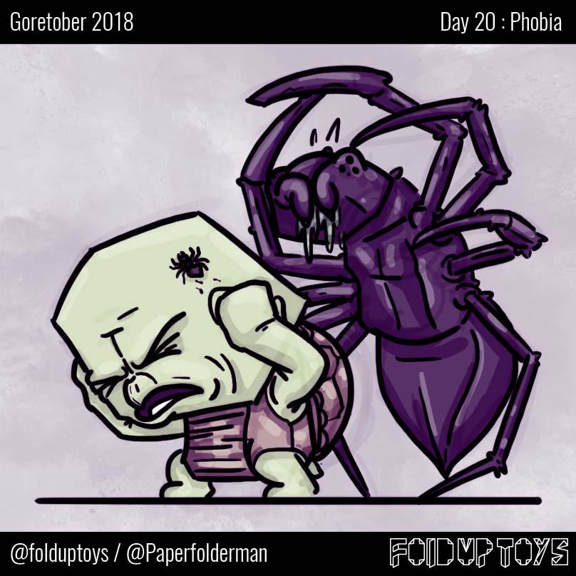 Alex Gwynne - Fold Up Toys - Day 20 Goretober Phobia