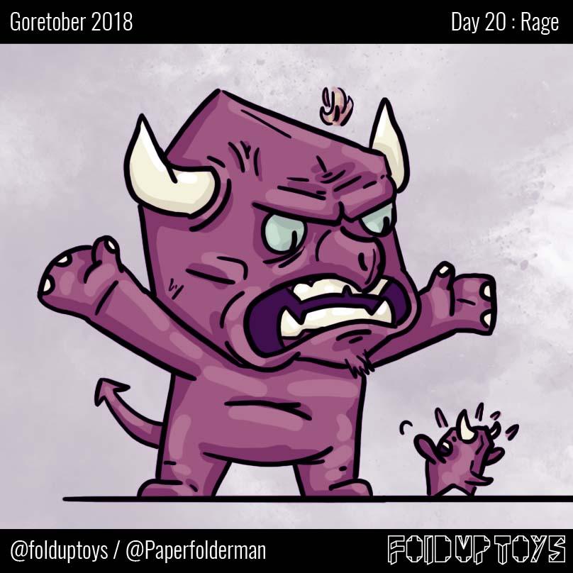 Alex Gwynne - Fold Up Toys - Day 20 Goretober Rage