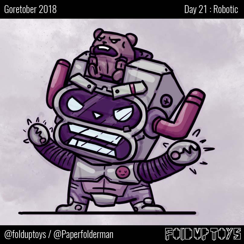 Alex Gwynne - Fold Up Toys - Day 21 Goretober Robotic