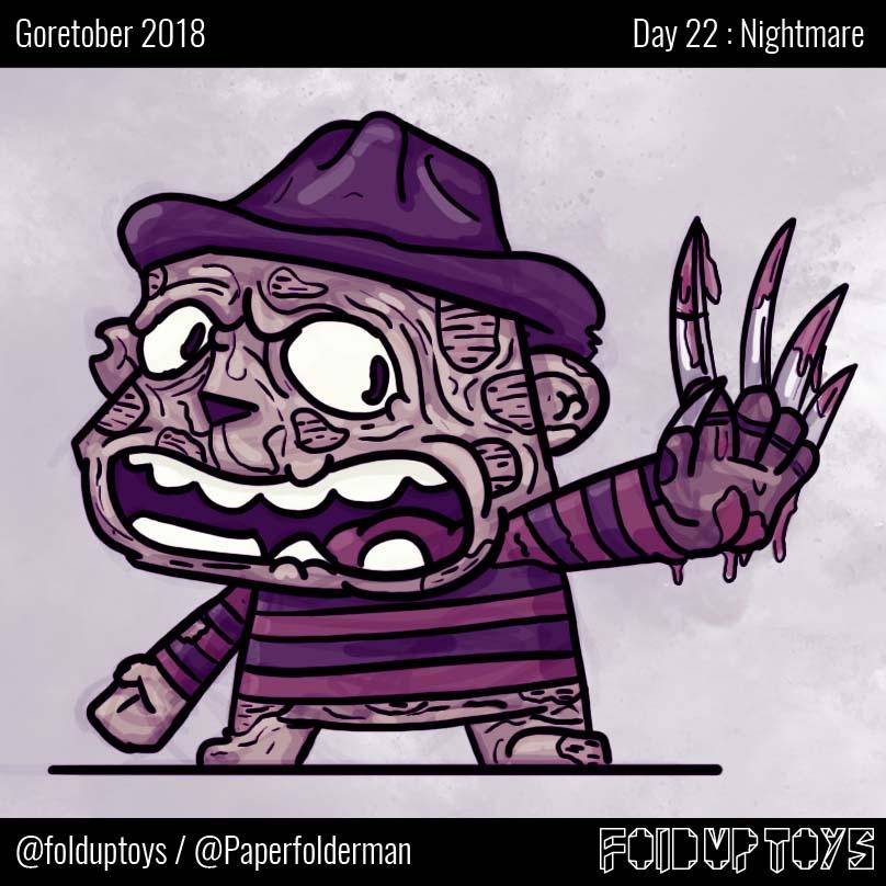 Alex Gwynne - Fold Up Toys - Day 22 Goretober Nightmare