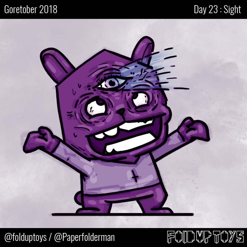 Alex Gwynne - Fold Up Toys - Day 23 Goretober Sight
