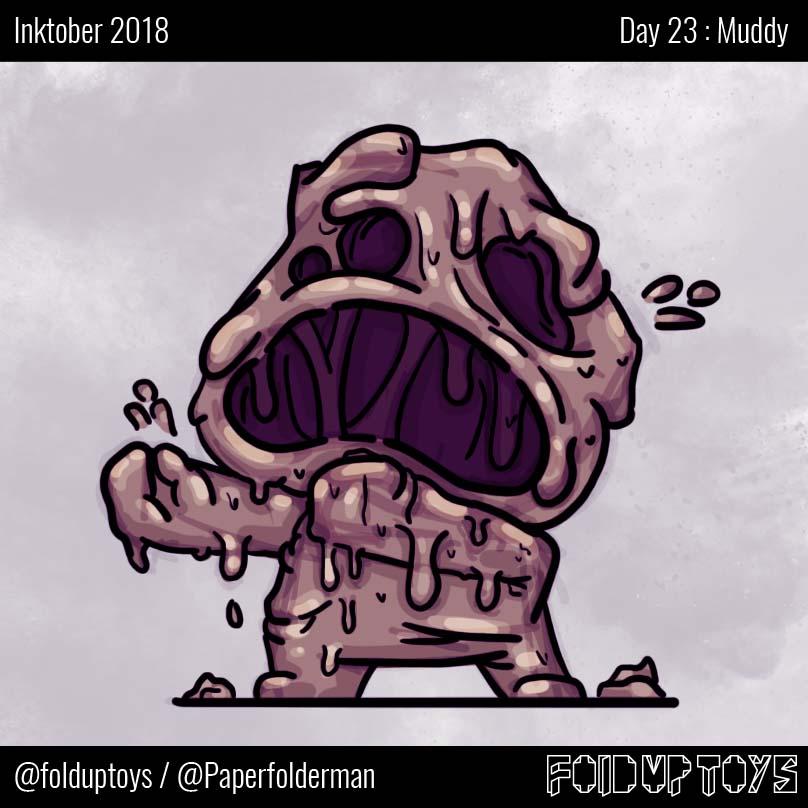 Alex Gwynne - Fold Up Toys - Day 23 Inktober Muddy