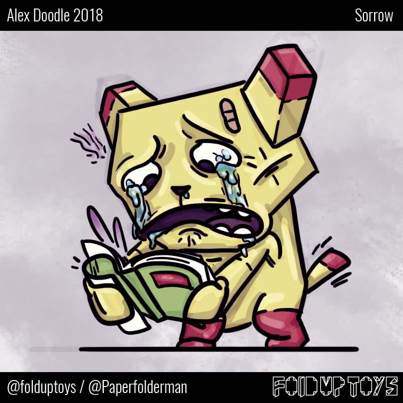 Alex Gwynne - Fold Up Toys - Day 24 Doodle - Sorrow