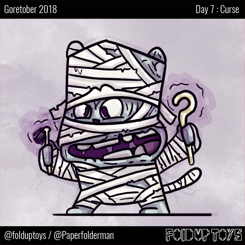 Alex Gwynne - Fold Up Toys - Day 7 Goretober Curse