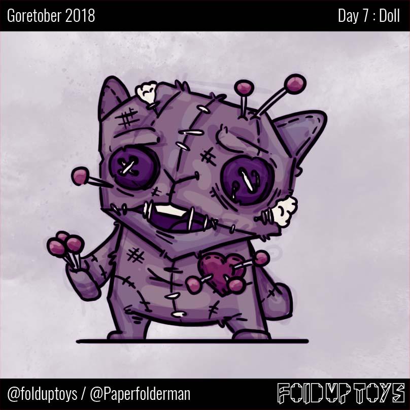 Alex Gwynne - Fold Up Toys - Day 7 Goretober Doll