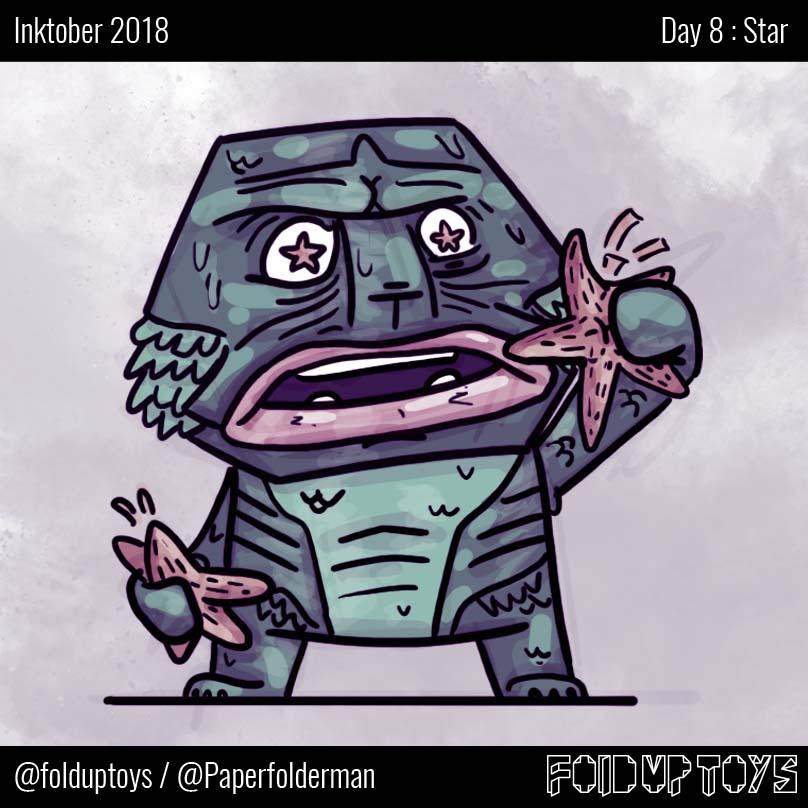 Alex Gwynne - Fold Up Toys - Day 8 Inktober Star