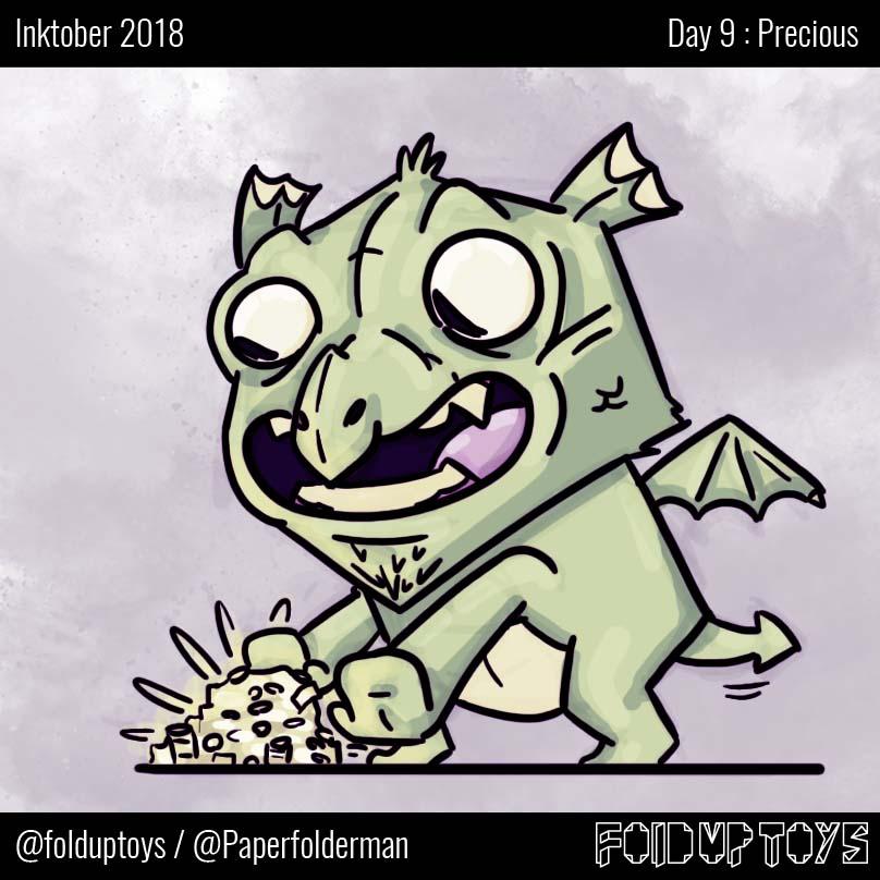 Alex Gwynne - Fold Up Toys - Day 9 Inktober Precious