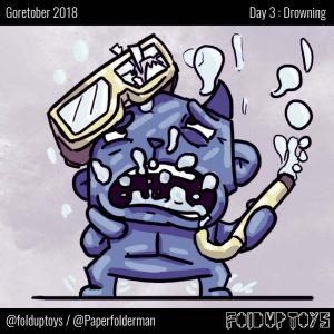 Alex Gwynne - Fold Up Toys - Goretober Day 3 Drowning
