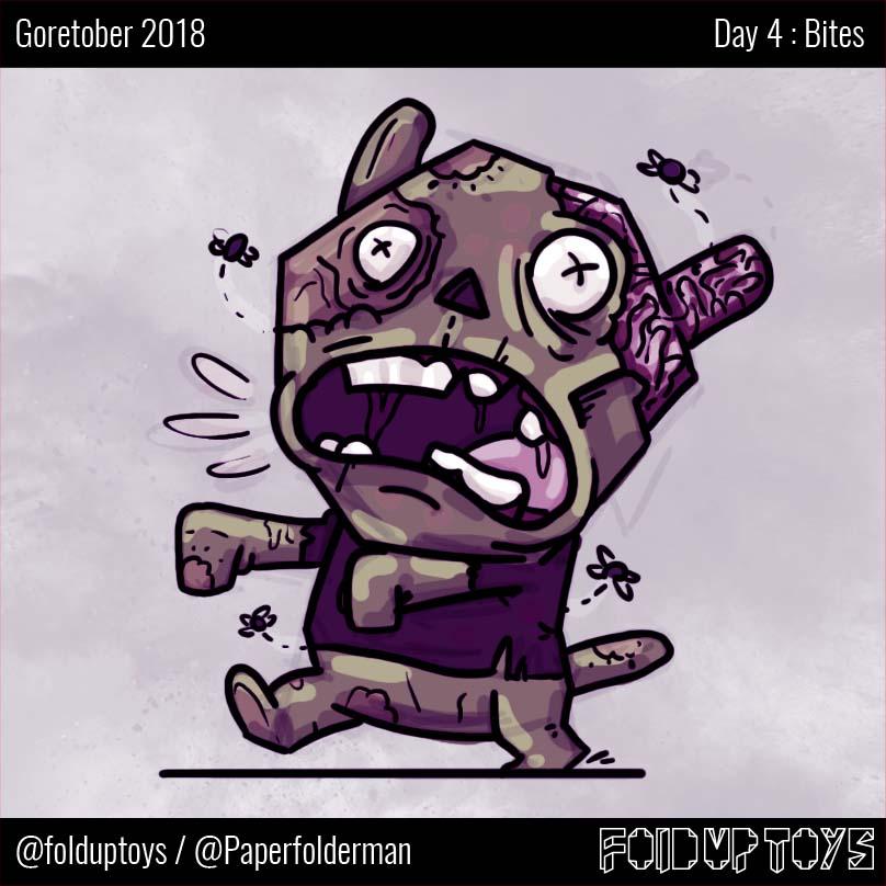 Alex Gwynne - Fold Up Toys - Goretober Day 4 Bites