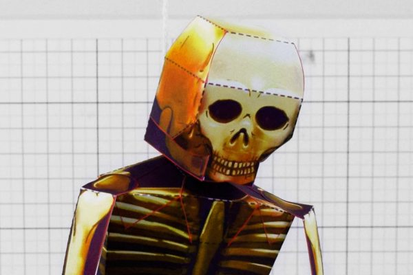 PTI - Halloween Halloween Skeleton Paper Toy - Head