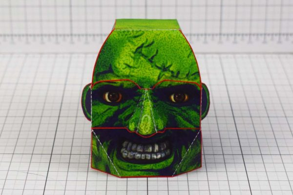 PTI - Halloween Zombie Head Decoration Paper Toy Simple - Front