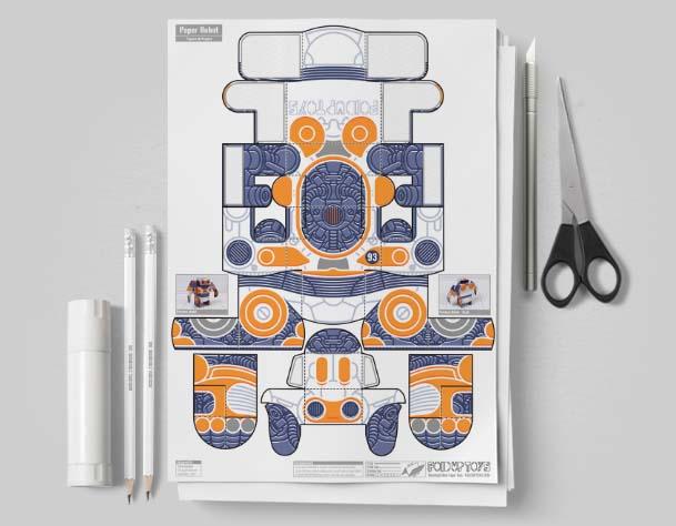 MU- Simple Paper Toy Robot - SPTR93 - Image Mockup