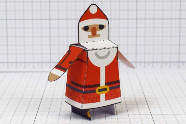 PTI-Minimal Santa Paper Toy - Image Angle