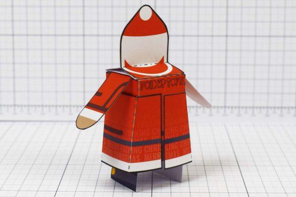 PTI-Minimal Santa Paper Toy - Image Back