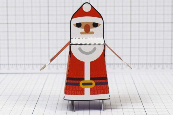 PTI-Minimal Santa Paper Toy - Image Front