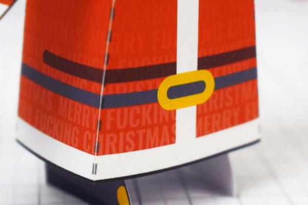 PTI-Minimal Santa Paper Toy - Image Zoom