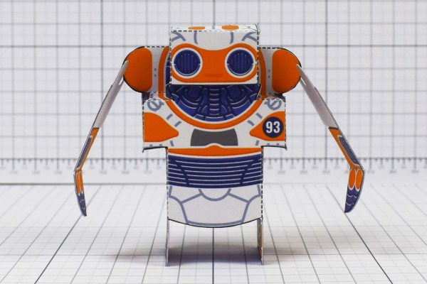 PTI- Simple Paper Toy Robot - SPTR93 - Image Front