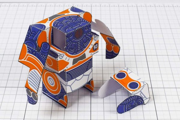 PTI- Simple Paper Toy Robot - SPTR93 - Image Head