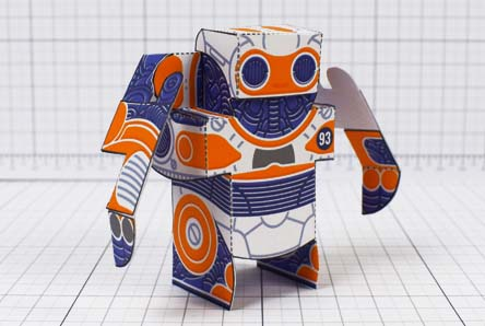 THU- Simple Paper Toy Robot - SPTR93 - Image Thumbnail