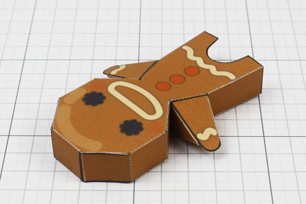 PTI - Christmas Paper Toy Craft Decoration - Gingerbread Guy Image - Back