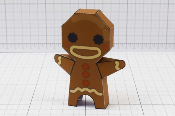 PTI - Christmas Paper Toy Craft Decoration - Gingerbread Guy Image - Main