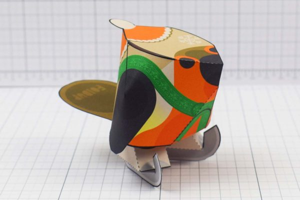 PTI - Christmas Paper Toy Craft Decoration - Skate Robin - Bird