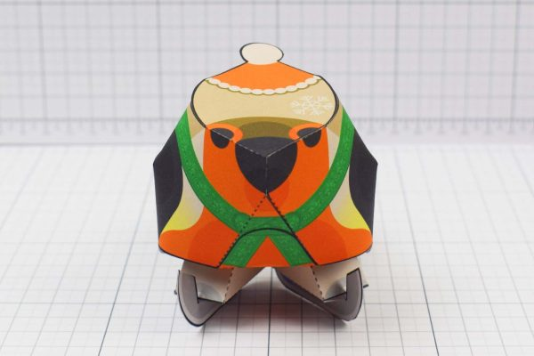PTI - Christmas Paper Toy Craft Decoration - Skate Robin - Front