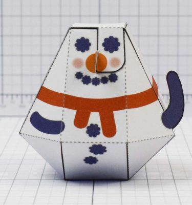 PTI - Christmas Paper Toy Craft Decoration - Slowblow Image - Front