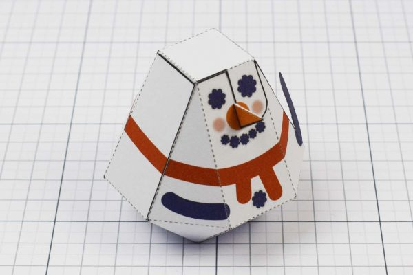 PTI - Christmas Paper Toy Craft Decoration - Slowblow Image - Top