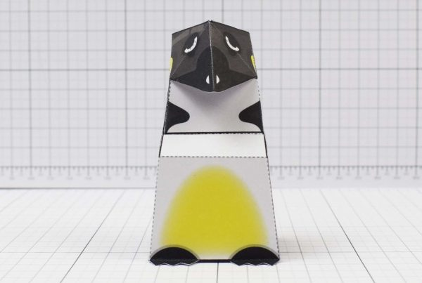PTI - Christmas Paper Toy - Sad Penguin Image - Front