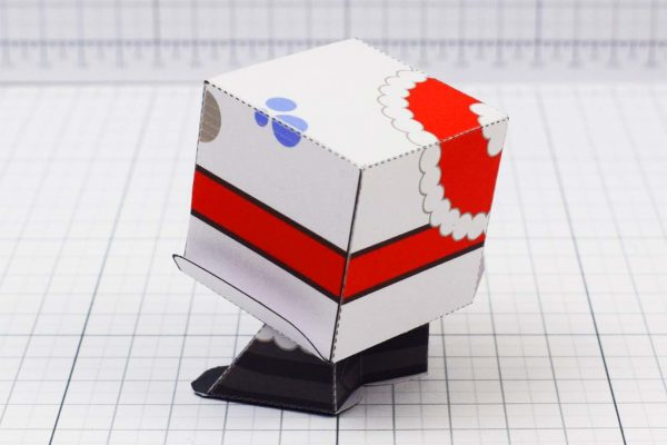 PTI - Christmas Paper Toy Snow Block - Image Back