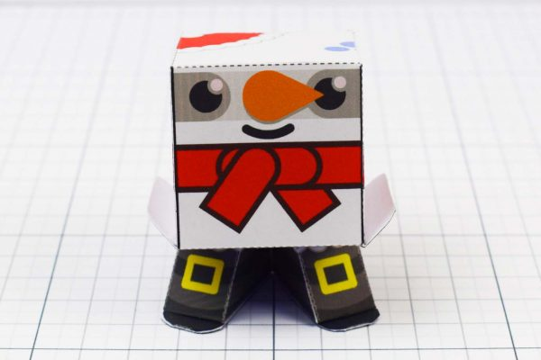 PTI - Christmas Paper Toy Snow Block - Image Front