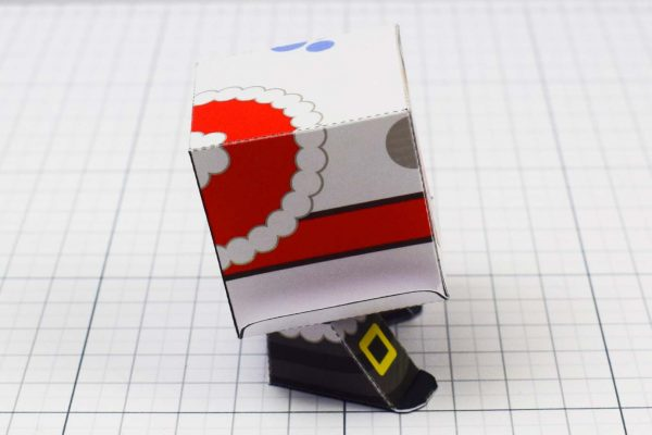 PTI - Christmas Paper Toy Snow Block - Image Side