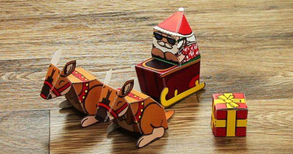 AU-T-3666-Summer-Santa-Paper-Model-Set_ver_1 (1)