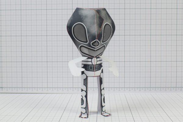 PTI - 3 Eyed Bear Alien Custom Papertoy - Image 2