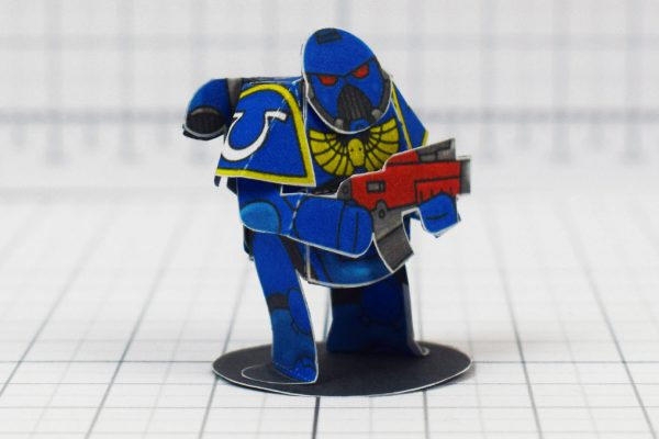 PTI - 40K Space Marine Paper Craft Concept - Image Angle