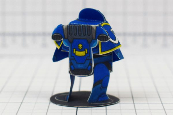 PTI - 40K Space Marine Paper Craft Concept - Image Back